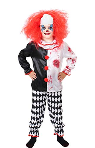 Psycho Clown Kostüm Kinder - ILOVEFANCYDRESS Kinder Horror Clown KOSTÜM Verkleidung