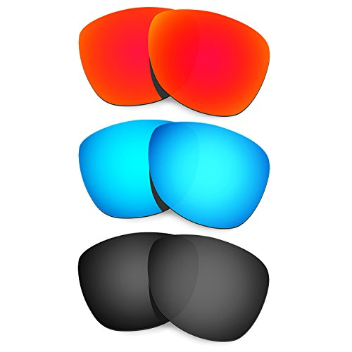 HKUCO Mens Replacement Lenses For Oakley Frogskins Sunglasses Red/Blue/Black Polarized