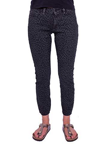 OPUS Damen Elma Leo SP Slim Jeans, Grau (Slate Grey Melange 8055), Herstellergröße: 38