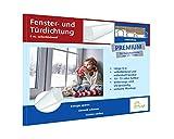 Fensterdichtung selbstklebend [SILIKON] Dichtungsband für Tür- und Fensterspalten [PREMIUM] - Für Spaltenbreiten von 1,5-7 mm - weiß