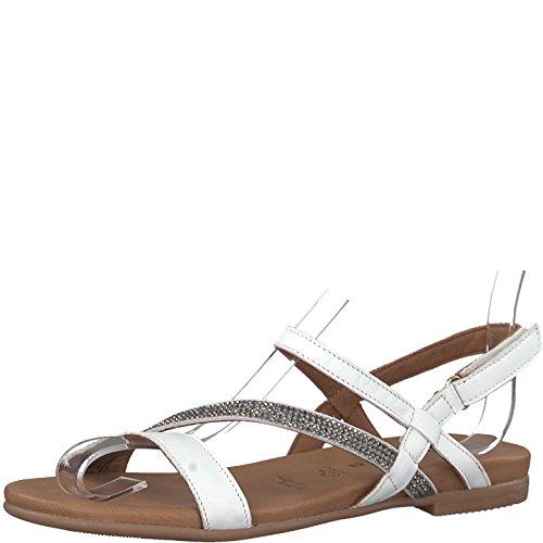 Tamaris 1-1-28118-20 Damen Sandale, Sandalette, Sommerschuhe für Die Modebewusste Frau Weiß (White), EU 39