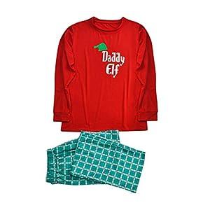 Kanlin1986 NiñO Navidad Santa Claus Ropa NiñAs Unisex Casa Pijama Bebe Navidad Regalo Manga Larga Camiseta Tops A Rayas Pantalones Padres E Hijos NiñO Madre E Hijo Rojo Camisa Sudadera 14