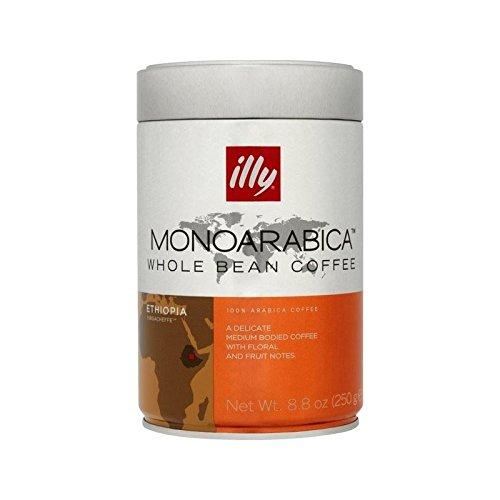 Illy Monoarabica Äthiopien Yirgacheffe Bohnen 250G - Packung mit 2 Illy Schokolade