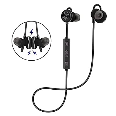 AROTAO Bluetooth Headphones Wireless 4.1 Magnetic Earbuds In-Ear Sweatproof Sports Earphones AptX Stereo with Mic Secure Fit for Running, Workout and Gym