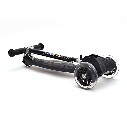 3Style Scooters® RGS-1 Scooter Tilt Kick board Mini T-Bar 3 Wheel Kick Scooter Board for Boys / Girls / Children / Kids With Spin & Flash LED Wheels Perfect Unique Present Xmas Christmas Gift – Free Upgrade to Expedited Shipping