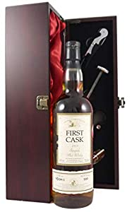 Auchroisk Speyside 26 year old Malt Whisky First Cask Bottling 1979 70cl presented in a wooden box with four wine accessories by Auchroisk Speyside