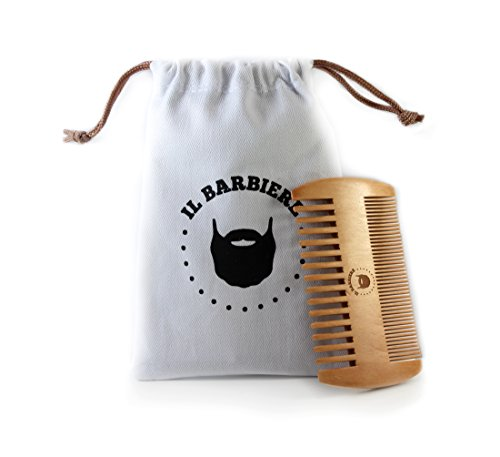 Peigne Barbe - Peigne en bois pour barbe antistatique