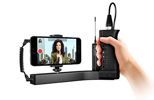 IK Multimedia iKlip A/V Halterung für professionelle Audio- und Video-Aufnahmen mit dem Smartphone