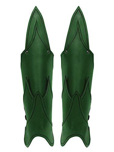 Andracor - Leder Beinschienen im Flammendesign - Fantasy Rüstung für die Beine - LARP Mittelalter Cosplay & Steampunk - ()
