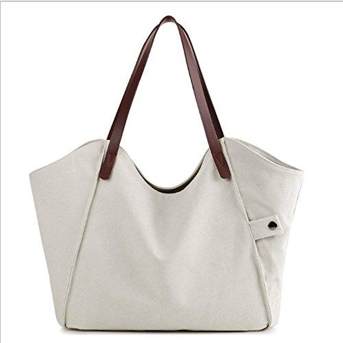 Swallowuk Dicke Leinwand Großhandel Taschen, wilde Umhängetasche Umweltschutz Einkaufstaschen Weiß