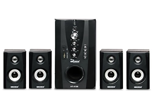 5 Core Hi-Fi Multimedia Speaker HT-4108 Home Theater System,Black