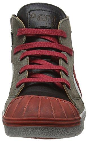 Art Split, Sneakers Hautes mixte enfant Multicolore - Multicolor (Black-Grafito)