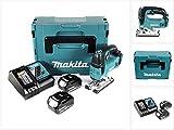 Makita DJV 182 RTJ Akku Stichsäge 18V Brushless 26mm im Makpac mit 2x BL1850B 5,0 Ah Akku und DC18RC Ladegerät