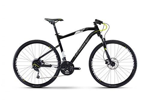 Crossrad Haibike Seet Cross 3.0 28' Herren 27-Gang Deore, Rahmenhöhen:56, Farben:Schwarz/Weiß/Lime