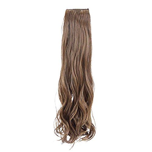 Lange Aus Menschlichen Haar Perücke (Babysbreath Langes lockiges Haar-Verlängerungs-Pferdeschwanz-Haar für Dame-Haarteil-Perücken (keine Pony) Leinen)
