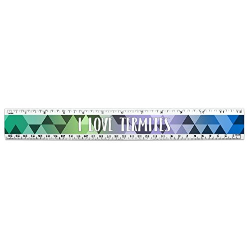 i-love-heart-animals-t-z-12-inch-standard-and-metric-plastic-ruler-termites