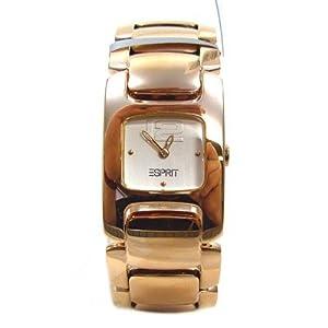 Esprit ES101032003 - Reloj analógico de mujer de cuarzo con correa de acero inoxidable dorada de Esprit