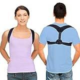 Shanqiu Corrector de Postura Ajustable para Mujer y Hombre y Niños - Corrector Postura Back Brace Posture Corrector para Espalda y Hombro y Cuello Adecuado para Busto Tamaño 83~105 cm
