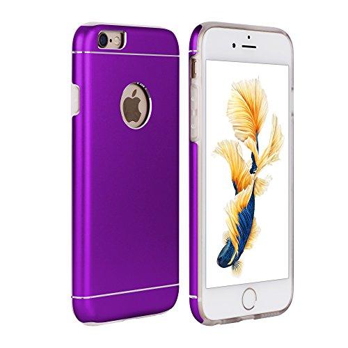Oats® Apple iPhone 6 / 6s Hülle Schutzhülle Tasche Hard Cover Back Case in Aluminium - von OKCS in Lila Lila