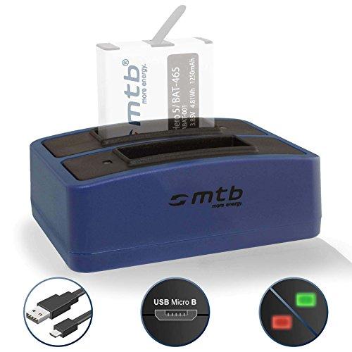 Dual-Ladegerät (USB) für GoPro Hero 5, Hero 6, Hero5 - inkl. Micro-USB-Kabel (2 Akkus gleichzeitig ladbar)