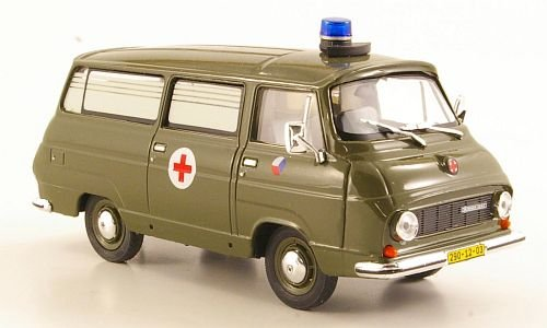Skoda 1203, Rettungswagen Tschechische Armee, Modellauto, Abrex 1:43