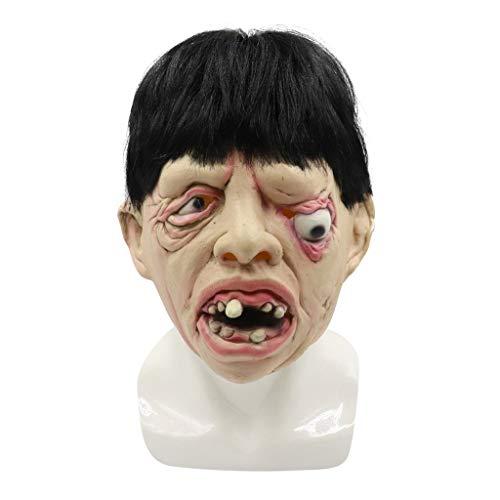 ToDIDAF Halloween Maske Vollkopfmaske Latex beängstigend Toothy Einäugige Person Maske Gruselige Maske des Grauens, Cosplay Halloween-Kostüm für Karneval Maskerade Party Dekoration