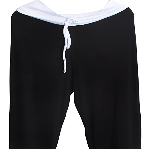 Sidiou Group Pantalon de corne de mode avec large jambe pour femmes, Pantalons confortables de Yoga, danse & sport et loisir pantalons de yoga de mode Noir