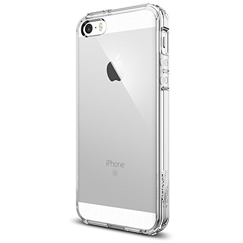 Cover iphone 5s, spigen cover iphone se / 5 [assorbimento-urto] ultra hybrid [crystal clear] aria-cuscino tecnologia di assorbimento, custodia iphone 5s, custodia iphone se / 5 (sgp10640)