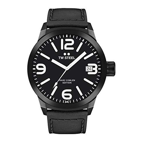 TW Steel Herren Analog Quarz Uhr mit Leder Armband TWMC30