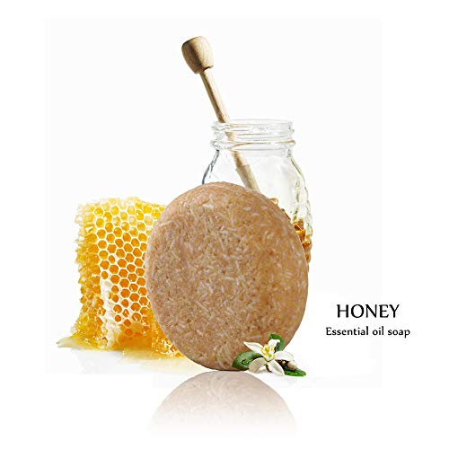 Honey Shampoo Bar Oyalaiy Shampoo and Conditioner, Plant essential oil 100% Natural Handmade Organic seaweed Soap Bar
