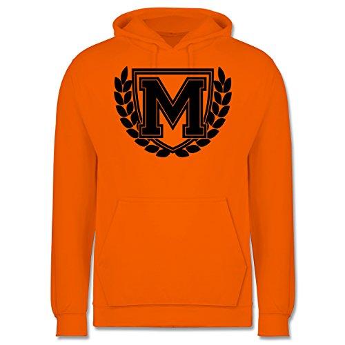 Anfangsbuchstaben - M Collegestyle - Männer Premium Kapuzenpullover / Hoodie Orange