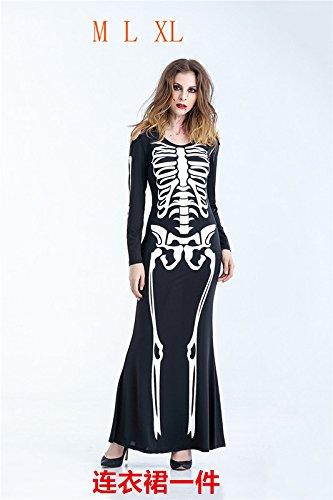 XiaoGao Halloween - kostüme Skelett Jacke Skelett,weibliche - Jacke Weibliche Kostüm