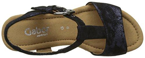 Gabor Chaussures Comfort, Sandales Compensées Femme Bleu (ocean Grata)