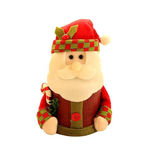 Papier Beutel Papiertüten Weihnachten Candy Jar Vorratsflasche Santa Bag Verpackung für Geschenktüten, Gastgeschenk, Kindergeburtstag, Süßes, Hochzeit (A)