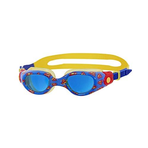 Zoggs niños DC Super Heroes Superman Impreso Gafas de natación–Azul/Amarillo/Rojo, 0–6años