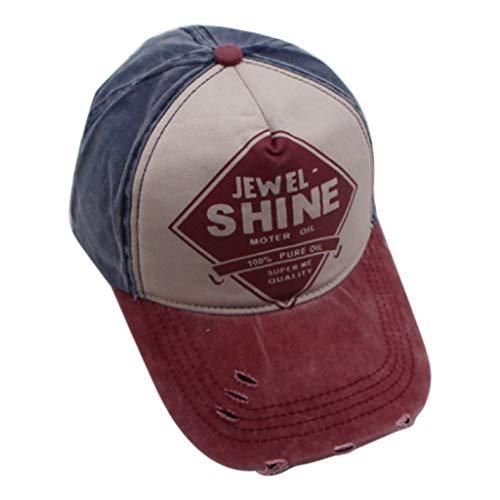 WHSHINE Unisex Mesh Baseballcap, Vintage Brief Stickerei Used Look Retro Sommer Kappe Mütze Cap Schirmmütze Baseballmütze Sonnenhut -