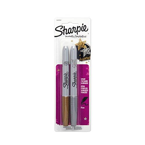 sanford-encre-permanente-pointe-fine-metallise-sharpie-markers-gold-et-argent