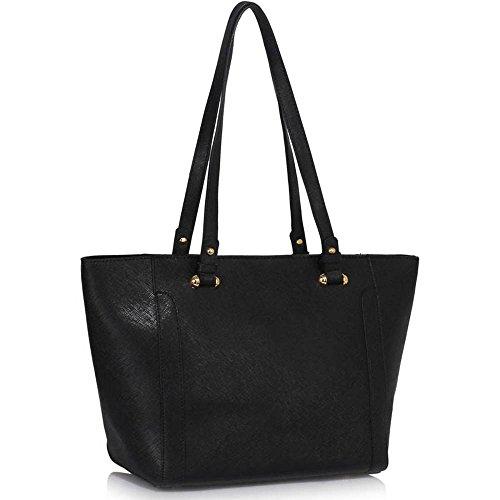 Trend Star Damen Konstrukteur Damen Taschen breit Käufer Tasche falsch Leder Schulter Taschen (Lady-bag Mulberry)
