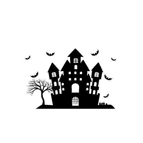 JXYY 15,1 * 10 Halloween Scary Bats Schloss Dekor Auto Aufkleber Vinyl Grafik