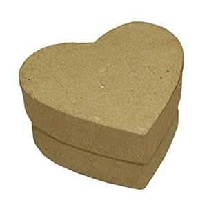 mini boite carton coeur 56x55x28mm boite drag es d corer peindre personnaliser. Black Bedroom Furniture Sets. Home Design Ideas