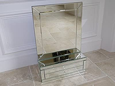 Vintage Mirrored Jewellery Trinket Storage Box Dressing Table Large Mirror 60cm produced by Giftwarez - quick delivery from UK.