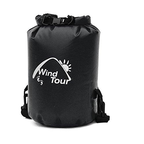 YYY-Drift borsa all'aperto spiaggia nuoto sacchetto sigillato ultra - luce incorporata sacchetto impermeabile con il sacchetto di sopravvivenza Fusi Black
