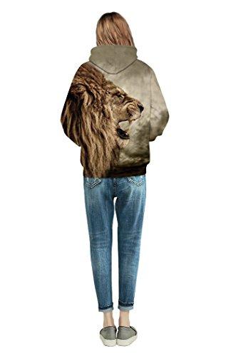 YOU LOOK ULGY TODAY Unisex 3D Druck Hoodie Kapuzenpullover Langarm Bunte Sweatshirt Kapuzenjacke mit Taschen für Damen und Herren Style 003