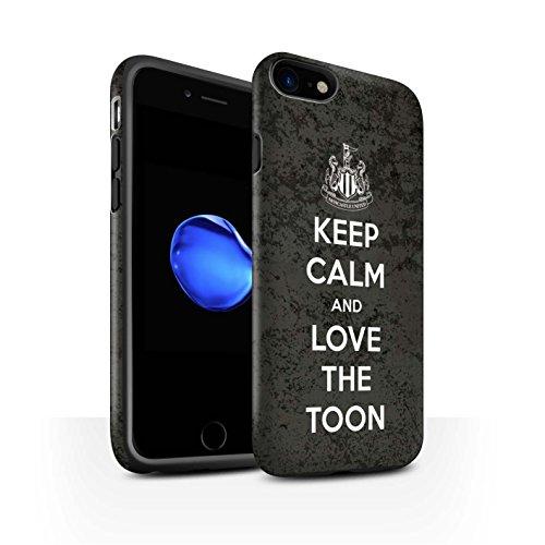 Officiel Newcastle United FC Coque / Matte Robuste Antichoc Etui pour Apple iPhone 8 / Soutien Design / NUFC Keep Calm Collection Amour Toon