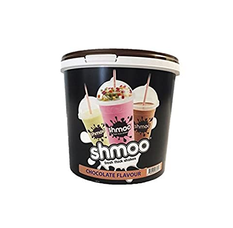 Chocolate Shmoo Milkshake Mix 1.8kg Tub with FREE Cups, Lids & Straws (Large Cup Pack) (Large Cup Pack) by Shmoo
