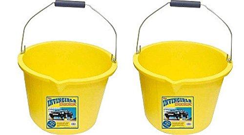 2-x-invincible-builders-building-bucket-yellow-heavy-duty-strong