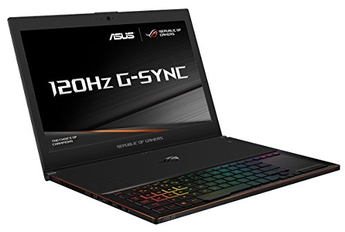 ASUS GX501VI ROG Zephyrus 15.6-inch Gaming Laptop (Black) - (Intel Core i7-7700HQ, 16GB RAM, 512GB PCIe SDD, FHD 120Hz G-Sync Display, NVidia GTX 1080 8GB, Full RGB UK Keyboard, Windows 10 Home)