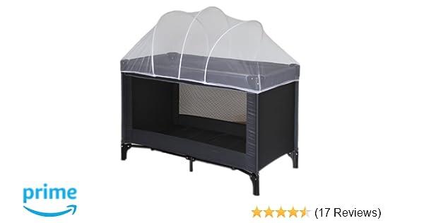 Nattou moskitonetz für reisebett mit bogen 11000 120 x 60 cm