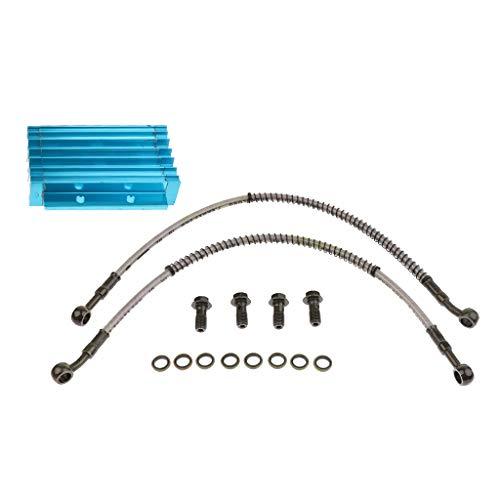 Sharplace Bleu Cnc Moteur Refroidisseur D'huile Radiateur 125 140cc 150cc Pit Pro Trail Dirt Bike