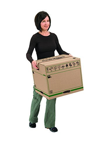 Bankers Box Umzugsbox SmoothMove klein (aus 100% recyceltem Karton, 10er Packung) braun - 13
